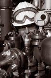 工程师可燃气体油 库存图片