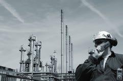 工程师天然气产业油 免版税库存照片