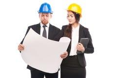 工程师夫妇  免版税图库摄影