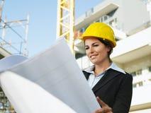工程师女性 免版税库存图片