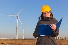 工程师女性 免版税图库摄影