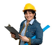 工程师女性 库存照片