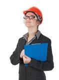 工程师妇女 免版税库存照片