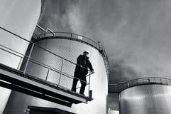工程师安全帽油箱 免版税库存图片