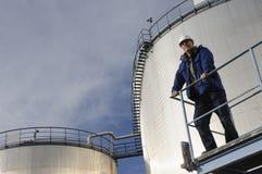 工程师油料储存 免版税图库摄影