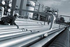 工程师燃料传递途径 免版税库存图片