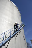 工程师燃料贮存坦克 库存照片