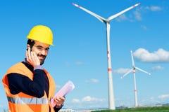 工程师生成器发电站涡轮风 免版税图库摄影