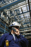 工程师移动电话 免版税图库摄影