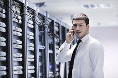 工程师网络电话空间联系 免版税库存图片