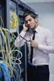 工程师网络电话空间联系 免版税库存照片