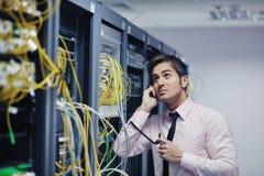 工程师网络电话空间联系 库存图片