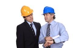 工程师联系 免版税库存照片