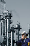 工程师行业油 免版税库存照片