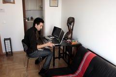 工程师软件年轻人 免版税库存图片