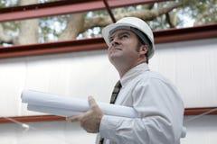 工程师项目调查 免版税库存图片