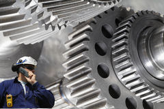 工程师齿轮机械轮子 免版税库存图片