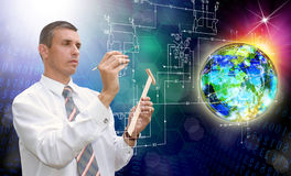 工程师 通信 工业设计技术 免版税库存照片