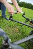工程师UAV直升机定象推进器  免版税图库摄影