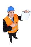 工程检查员 免版税图库摄影
