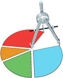 工程设计市场份额成长曲线图 库存例证