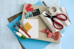 工艺和卡片固定式供应 库存照片