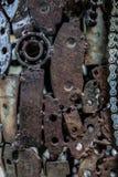 工艺品从使用的备件的金属艺术品 库存图片