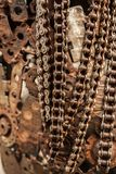 工艺品从使用的备件的金属艺术品 库存照片