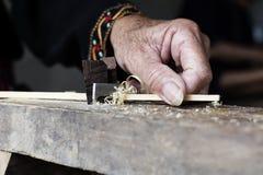 工艺品变薄竹条纹做 库存照片