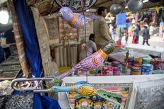 工艺品待售在新德里,印度 库存图片