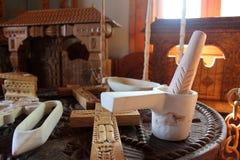 工艺品木在Maramures 免版税库存照片