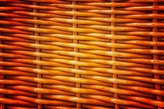 工艺品织法纹理柳条背景的样式自然  免版税库存照片