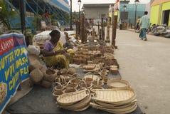 工艺品,西孟加拉邦,印度 库存照片
