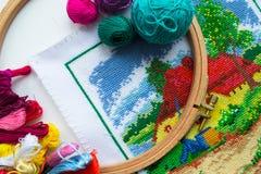 工艺品-缝合和刺绣 库存图片
