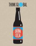 工艺啤酒传染媒介设计 图库摄影