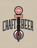 工艺啤酒传染媒介设计 免版税库存图片