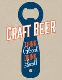 工艺啤酒传染媒介设计 库存照片