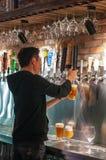 工艺啤酒在上海 免版税图库摄影