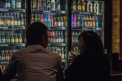 工艺啤酒在上海 库存图片