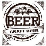 工艺啤酒标签 库存照片