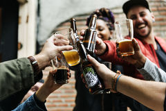 工艺啤酒铅矿石酿造酒精庆祝茶点 库存照片