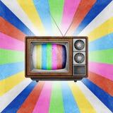 工艺图标纸张回收了电视电视 库存照片