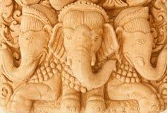 工艺大象沙子石头 库存照片