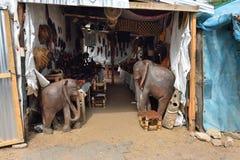 工艺市场在纳米比亚 免版税库存图片