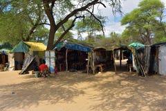工艺市场在纳米比亚 免版税库存照片