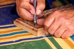 工艺木头 库存图片