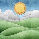 工艺纸张被回收的季节视图 图库摄影