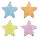 工艺纸张被回收的星形标签 免版税库存照片