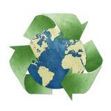 工艺纸张被回收的标签 免版税库存图片