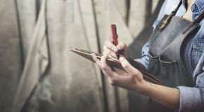 工艺认为创造性的概念的文字设计 库存照片